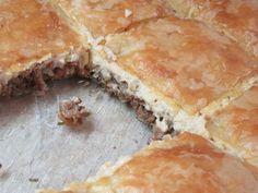 Πεντανόστιμη πίτα με κιμά & μπεσαμέλ! τέλεια ιδέα για μπουφέ !!! Cookbook Recipes, Cooking Recipes, Spanakopita, Food And Drink, Pie, Ethnic Recipes, Desserts, Torte, Tailgate Desserts
