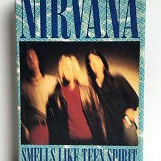 """➡ Nirvana """"Smells Like Teen Spirit"""" Cassette Single  #nirvana #smellsliketeenspirit #cassette #grunge #1990s #davegrohl #kurtcobain #1990s #grungerock #nevermind"""