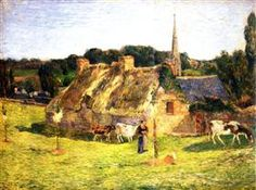 Lollichon's Field and the Church of Pont-Aven - Paul Gauguin · 1886