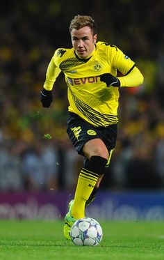 Mario Götze, attacking midfielder for Borussia Dortmund and the German national team.