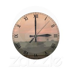 http://www.zazzle.com/misty_sunset_clock-256358861570484964?rf=238739306683447883  Misty Sunset Clock from Zazzle.com