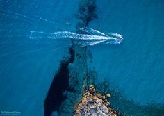 Water Trail - Moto d'acqua che attraversa la baia in Marina di Leporano…