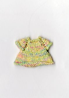 quarter scale knitted multicolored dress