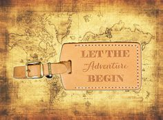 Wedding Escort Favor Leather Luggage Tag SBOT by PorterLeather