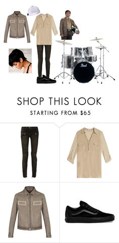 Fandom Band- Drums  Poe Dameron by saleonsea on Polyvore featuring Splendid, Balmain and Vans