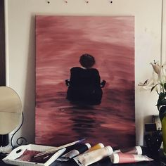 sign of the times ... Harry styles first song.. Harry styles by Harry styles painting ... by me.... #room #decor #harrystyles #signofthetimes #canvas #paint