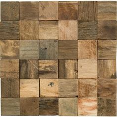 Reclaimed Rustic Teak Wood Mosaics from Great Britain Tile