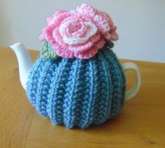 Small Tea Cosy 1-2 cup tea pot by LittleDaisyKnits on Etsy