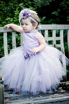 Flower Girl Tutu DressBustle Style Princess by BellaBeanCouture, $135.00