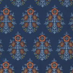 Joel Dewberry - Botanique - Provincial in Deepwater for HS Quilt Patterns, Sewing Patterns, Free Spirit Fabrics, Repeating Patterns, Fabric Design, Screen Printing, Bohemian Rug, Quilts, Modern