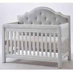 Cristallo Forever Crib Vintage White with Vinyl Panel