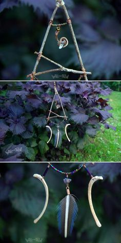 Crystal Tendril Rustic Forest Mobile by FrolicInTheForest on Etsy