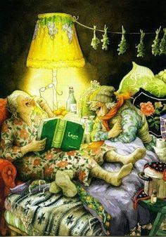 Pinzellades al món: Il·lustracions d'Inge Löök: alegria permanent entre dos simpàtiques àvies