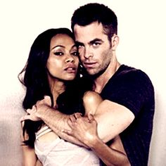 Zoe Saldana & Chris Pine- Wish that was me instead of Zoe