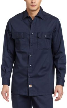Carhartt Men's Long Sleeve Twill Work Shirt $20.99 - $44.31