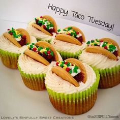 #cute looks #delicious #tacocupcake