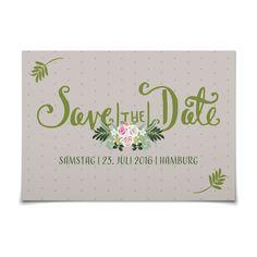 Save the Date Blumenportrait in Taupe - Postkarte flach #Hochzeit #Hochzeitskarten #SaveTheDate #elegant https://www.goldbek.de/hochzeit/hochzeitskarten/save-the-date/save-the-date-blumenportrait?color=taupe&design=b59af&utm_campaign=autoproducts