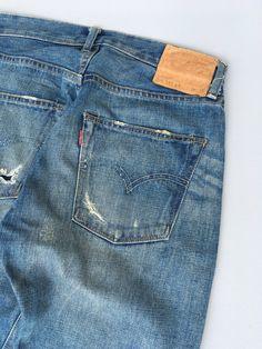 Ripped Denim, Distressed Denim, Levis 501, Vintage Levis, Usa Jeans, Blue Jeans, Redline, Vintage Humor, Vintage Valentines