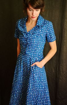 Retro Dress in Gingham por LetsBacktrack en Etsy