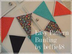 PATTERN EASY Bunting Banner Garland Pattern Tutorial par beffie48