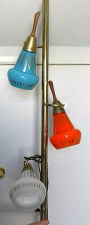 One of the most iconic, middle class atomic era pole lamps!
