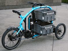 STROKE CargoTrike | 三輪カーゴバイク- コンパクトサイズの電動アシスト三輪自転車_Cargobike Velo Tricycle, Three Wheel Bicycle, Velo Cargo, E Biker, Electric Tricycle, E Motor, Push Bikes, Drift Trike, Motorized Bicycle
