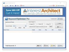 [GIVEAWAY] Keyword Optimizer Pro [LEGIT LICENSE]     Keyword Optimizer Pro is an unique software designed to uncover profitable niche keywords in seconds     Is easy to install and easy to manipulate. You just enter the keyword, choose a browser (Google, Yahoo or Bing) and your desired answer will come right away.     Keyword Optimizer Pro is free powerful keyword research software designed to quickly generate large lists of targeted keywords for online marketing.     This software runs on…