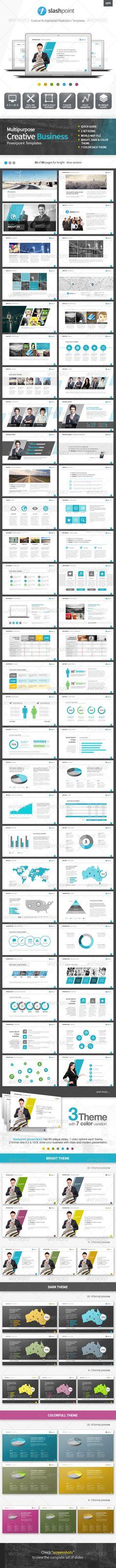 Slashpoint   Creative Business powerpoint template (Powerpoint Templates) #Powerpoint #Powerpoint_Template #Presentation