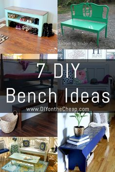 Benches are the perfect beginner woodworking project! I love all of these ideas. Now I just have to decide which one to make!