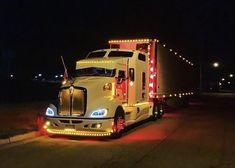 Big Rig Trucks, Semi Trucks, Cool Trucks, Customised Trucks, Truck Paint, Kenworth Trucks, Buses, Jeep, Night