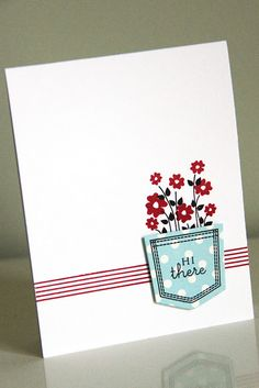 Hi there card  by Erin Lincoln for Papertrey Ink (September 2011).