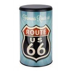 WENKO Wäschetruhe Vintage Route 66, Badhocker
