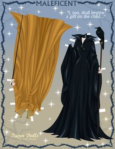 Maleficent Paper doll part 4 by Paper Dolls by Cory