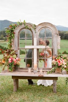 Outdoor Wedding Altar -- Very Romantic!   See the wedding from Jen Fariello on…