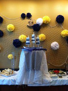 nautical decor for baby shower | Nautical decor for baby shower.