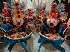 festa circo - decoração balas