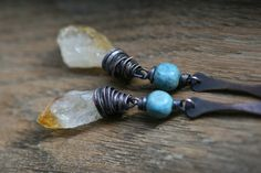 The Solar Color earrings RusticOrganic by Tribalis on Etsy
