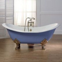 Diana 72 Inch Cast Iron Double Slipper Clawfoot Tub No Faucet