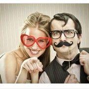 Moustaches cartonnées pour photobooth (par 6)