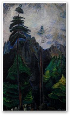 "Emily Carr ""Mountain Forest"", Canadian Group of Seven Group Of Seven Art, Group Of Seven Paintings, Tom Thomson, Canadian Painters, Canadian Artists, Impressionist Paintings, Landscape Paintings, Emily Carr Paintings, House Painter"