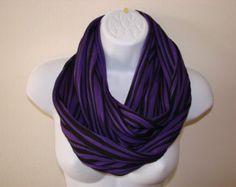 Purple Black Infinity Scarf Jersey Knit, Eternity Scarf, Blackberry Cowl, Circle Scarf Fall Unisex Man Winter Woamn Fashion Scarf