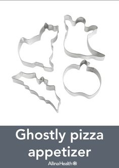 Ghostly pizza appetizer: Making pizza at home is a more healthful option than ordering in from your favorite pizza restaurant. Add healthful toppings such as spinach and thinly sliced Roma tomatoes for a little extra nutrition!  http://www.allinahealth.org/Health-Conditions-and-Treatments/Eat-healthy/Recipes/Appetizers-and-snacks/Ghostly-pizza-appetizer/