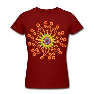 T-Shirts ~ Frauen T-Shirt von American Apparel ~ flower power 04