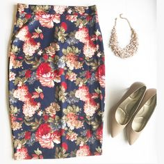 Spotted while shopping on Poshmark: Floral Pencil Skirt!! #poshmark #fashion #shopping #style #Dresses & Skirts
