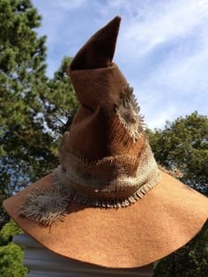 Scarecrow Hat from Etsy (page gone though, unfortunately)