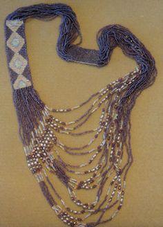 Diamond 1 Side Loom Necklace Pattern