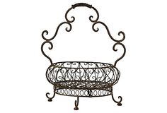 Iron Basket w/ Curved Handle on OneKingsLane.com