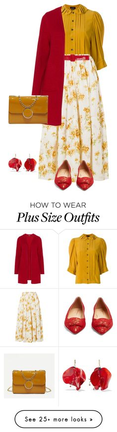 """outfit 7876"" by natalyag on Polyvore featuring Isabel Marant, Brock Collection, Rupert Sanderson, Marni and Samoon Plus Size Looks, Wardrobe Ideas, Marni, Isabel Marant, Ann Taylor Loft, Plus Size Outfits, Packaging, Street Style, Clothing"