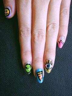 Soft grunge nail art ✿