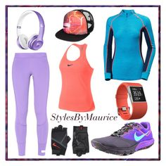 """""""Ladies Fitness Fashion"""" by mauricee-brewer on Polyvore featuring adidas, NIKE, Helly Hansen, Fitbit and Quiksilver"""